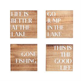 Mudpie   Lake Wood Coasters Set of 4  $14.00