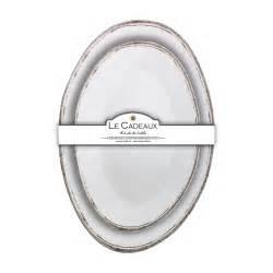 Le Cadeaux   Antique White Nesting Platter Set  $47.00