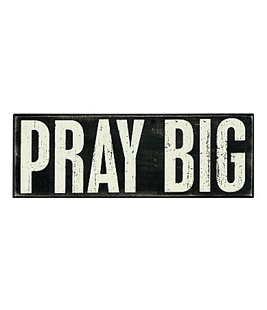 Pray Big Box Sign  collection with 1 products