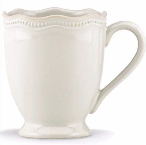 Lenox  Casual Dinnerware Frch Perle Bead White Mug $18.00