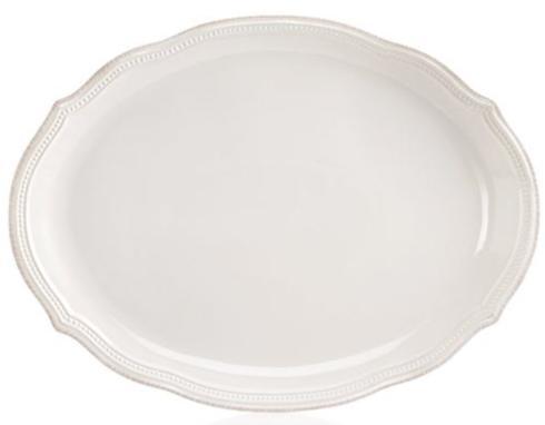 Lenox  Casual Dinnerware Frch Perle Bead White Oval Platter $89.00