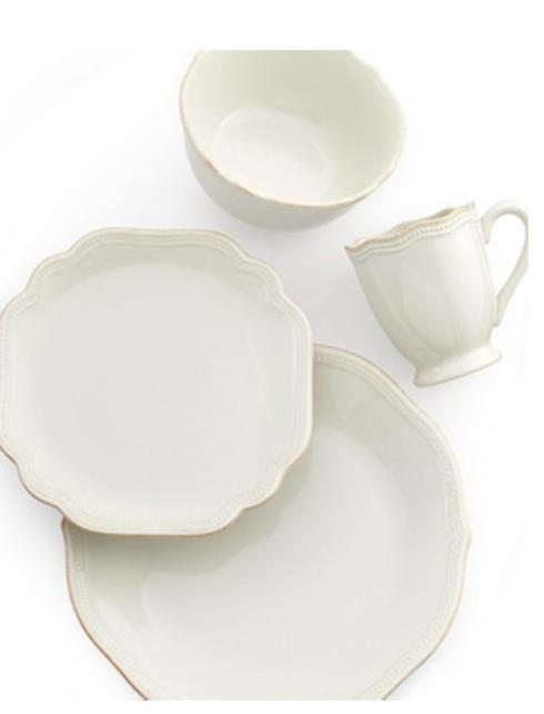 Lenox  Casual Dinnerware Frch Perle Bead White 4 pc  $67.50