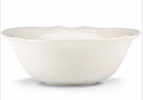 Lenox  Casual Dinnerware Frch Perle Bead White Serve Bowl $67.50
