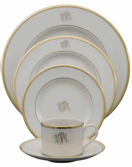 Thayers Exclusives   Pickard Monogrammed Salad Plate $59.00