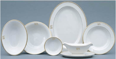Thayers Exclusives   Pickard Monogrammed Oval Serving Bowl $189.00