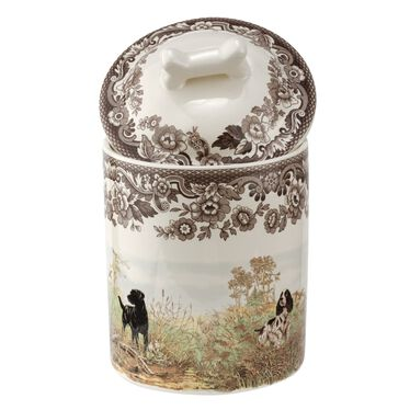 """Ivy House Exclusives   Spode Woodland 7"""" Treat Jar with Lid  $39.99"""