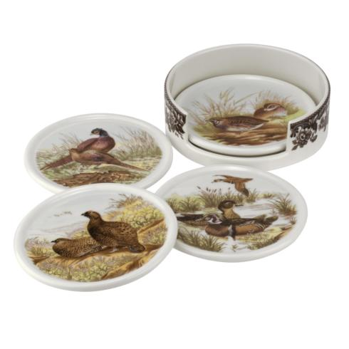 Ivy House Exclusives   Spode Woodland 4 Piece ceramic coasters with holder $24.99