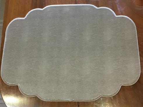 $40.00 Komodo Khaki Cartouche Shaped Placemat