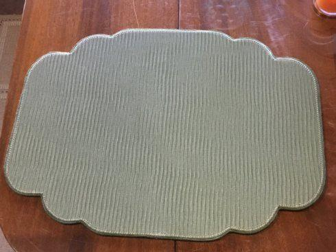 Uppercut   Strata Olive Cartouche Shaped Placemat $40.00