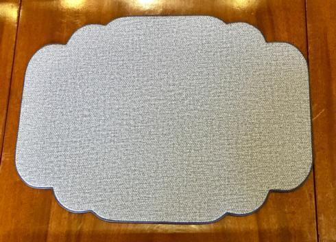 Uppercut   Donegal Blue Cartouche Shaped Placemat $40.00