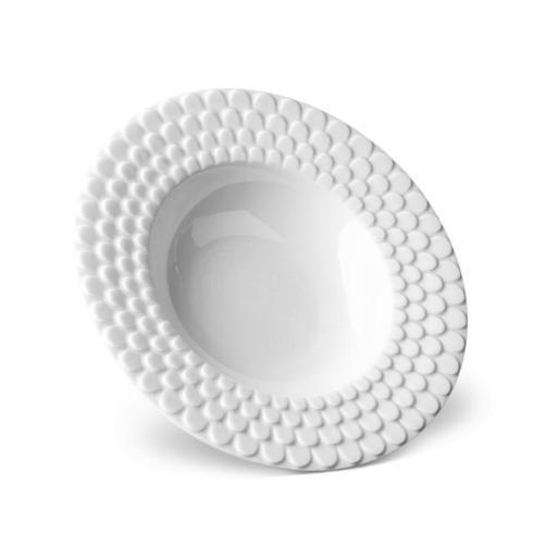 $40.00 Aegean White Rim Soup Bowl