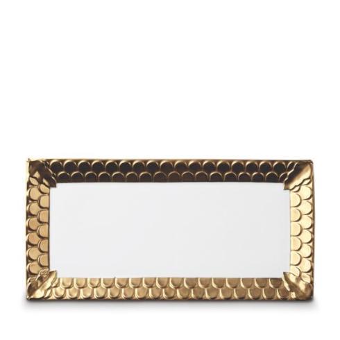 L'Objet   Aegean Gold Rectangular Platter $650.00