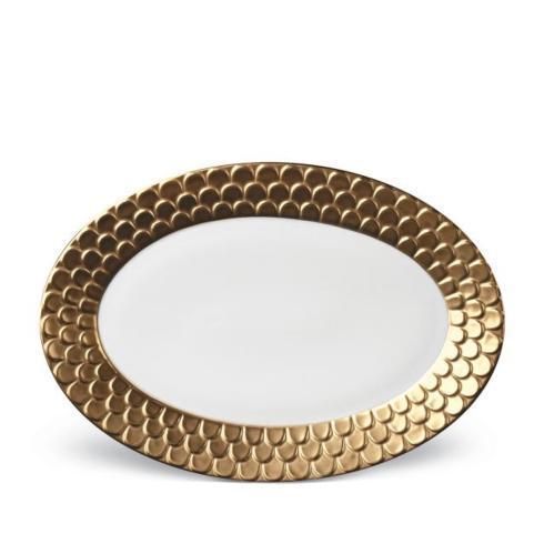 L'Objet   Aegean Gold Oval Platter $650.00