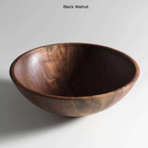 """$445.00 Champlain 16""""Black Walnut Salad Bowl"""