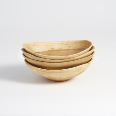 "Andrew Pearce   Echo Bowls 7"" set of 4 Cherry Wood $150.00"