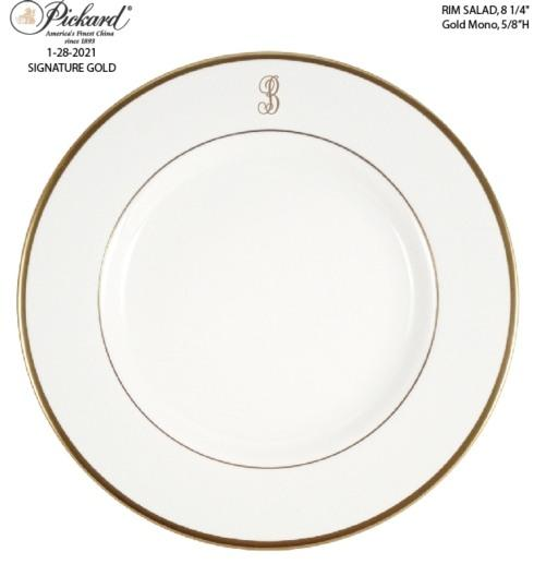$59.00 Signature Monogram Salad Plate