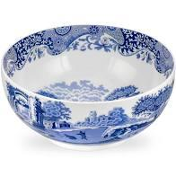 Ivy House Exclusives   Blue Italian Deep Round Bowl $79.99