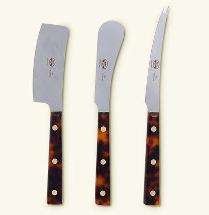 $275.00 S/3 cheese Knives with Fabric Roll-up