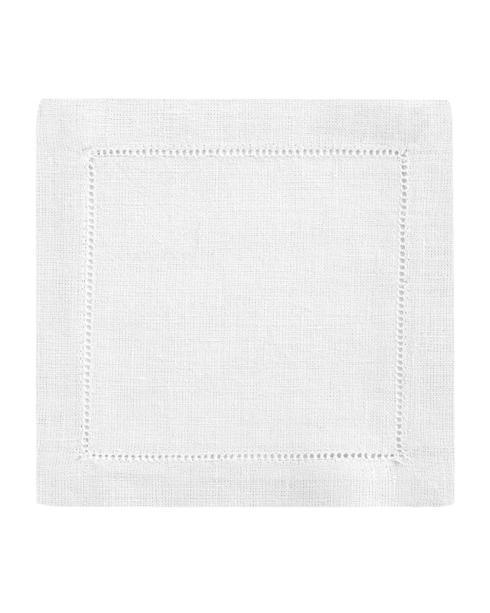 White Classico Cocktail Napkins- Set of 6 collection with 1 products