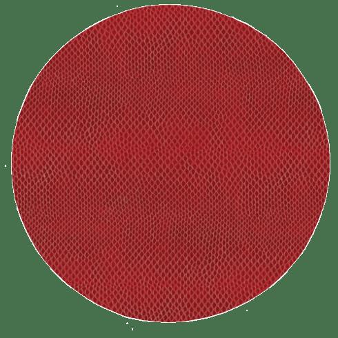 $14.50 Snakeskin Round Placemat Crimson
