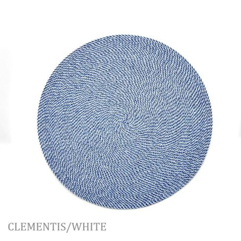 """$20.00 15"""" Round Placemat Clementis"""