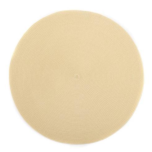 """$20.00 15"""" Round Placemat Cream"""