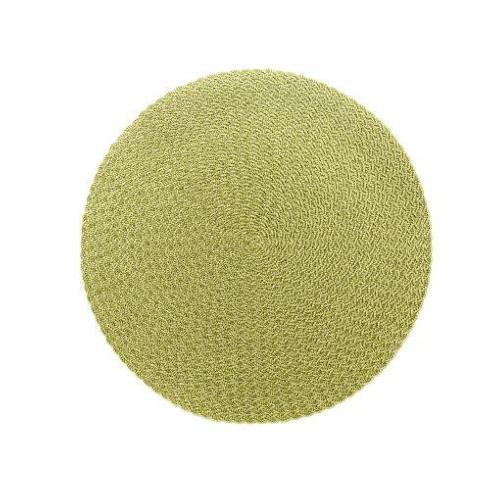 $25.00 Moss Canary Triple Braid Round Placemat