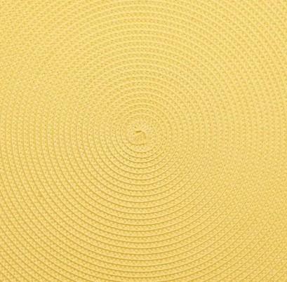 Deborah Rhodes   Yellow Oval Scallop Placemat $46.00
