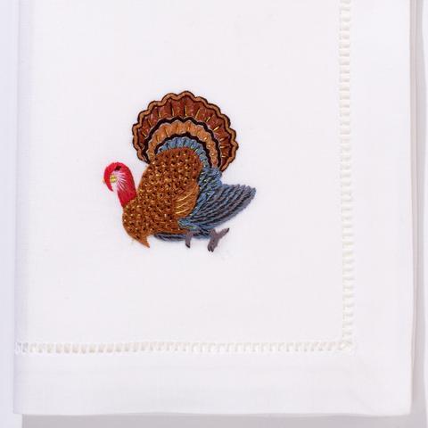 Henry Handwork   Turkey Gold Dinner napkin set/12 20'x20