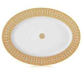 """Hermés   Mosaique au 24 Gold Large Platter 16.5"""" $495.00"""