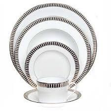 Ivy House Exclusives   Haviland Plumes Platinum Dinner Plate $75.00