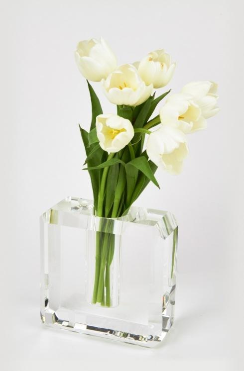 Crystal Glass Vase Hexagonal Edge Medium collection with 1 products