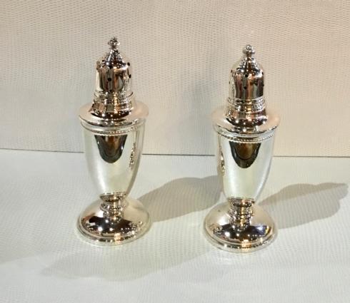 Beaded Sterling Silver Salt & Pepper Shakers
