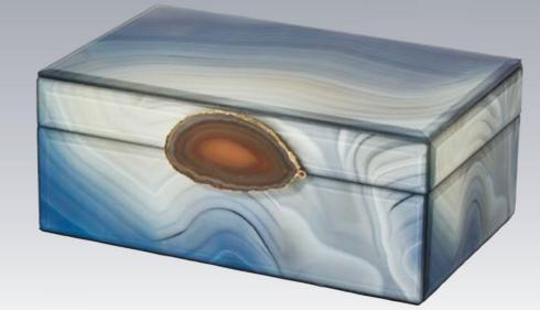 Tizo Designs   Marble Glass Box - Large $78.00