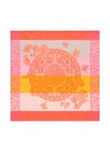 "$90.00 Fleurs Gourmandes Peach Dinner Napkin Set/4 22""x22"""