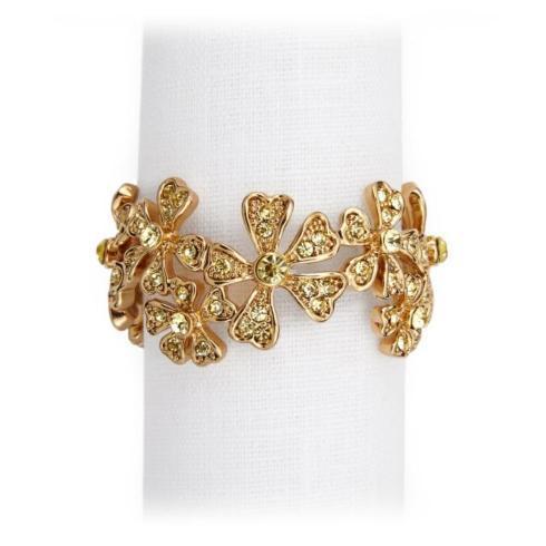 $235.00 Garland Gold Napkin Rings - Set of 4