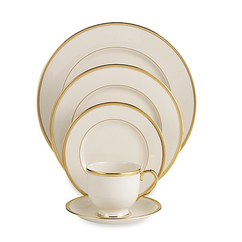 $350.00 Tuxedo Gold 5 Piece Place setting