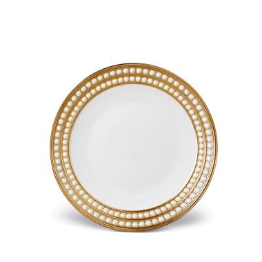 L'Objet   Perlee Gold Dessert Plate $246.00