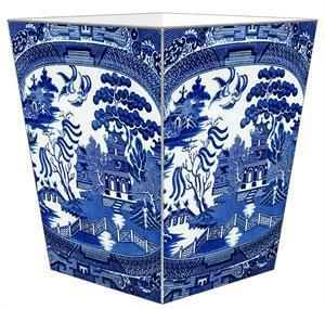 Marye-Kelley   Blue Willow Wastepaper basket $130.00