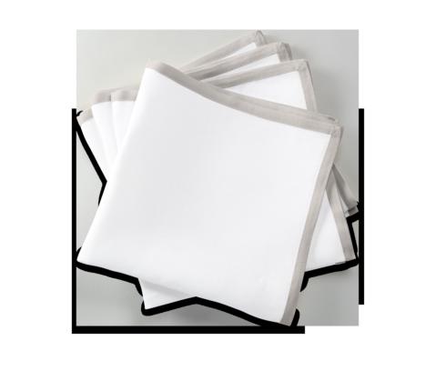Matouk   Casual Coutour Dinner napkin Set/4 Grey $135.00