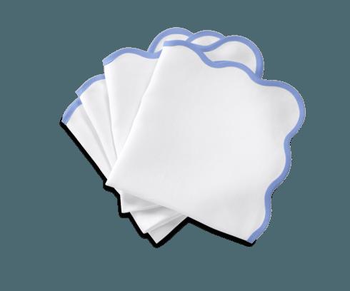 Matouk   Casaul Coutour Scallop Napkin Sky Blue Set/4  $135.00