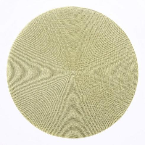 """$20.00 15"""" Round Placemat Moss Canary"""