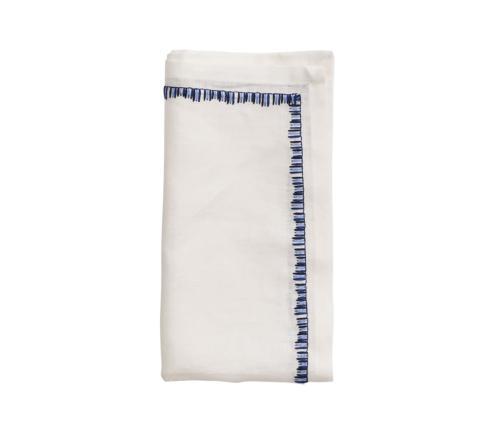 $112.00 Filament Napkin in White & Navy Set/4