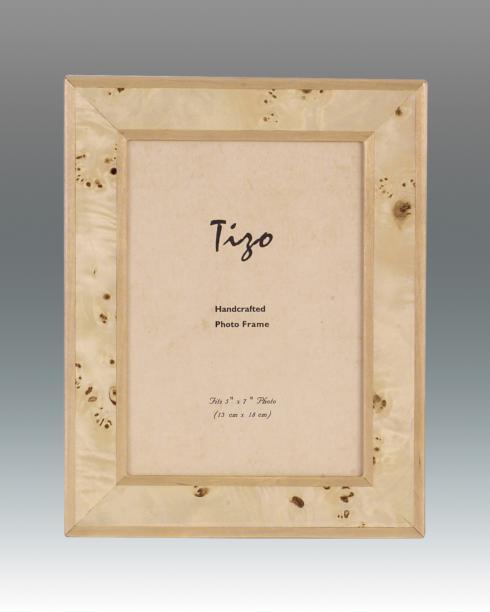 "$99.00 Burl Wood Frame W/ Polished Back 5"" x 7"""
