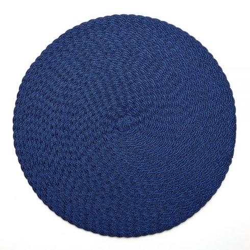 Deborah Rhodes   Oxford Blue Triple Braid Placemat $28.00