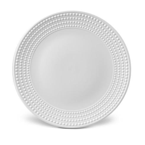 L'Objet   Perlee White Round Platter $206.00