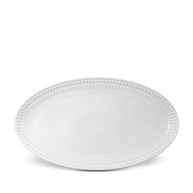 L'Objet   Perlee White Oval Platter $394.00