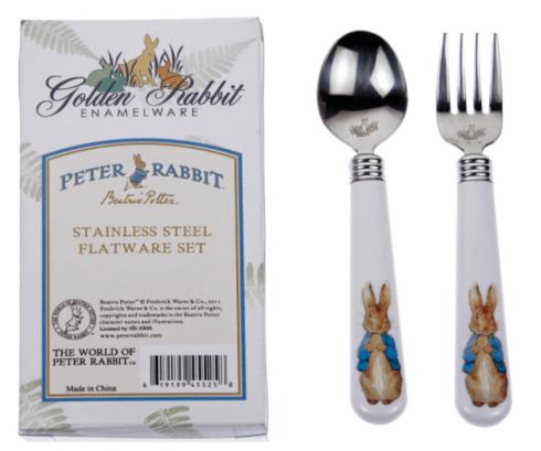 $15.00 Peter Rabbit Baby Flatware 2 Piece