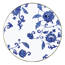 Bernardaud   Prince Bleu Coupe Dinner Plate $188.00