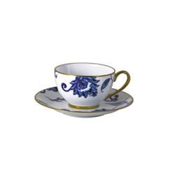 Bernardaud   Prince Bleu Tea Saucer (Boule Shape) $50.00